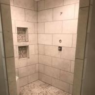 A newly remodeled shower.